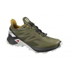 SALOMON SUPERCROSS BLAST GTX -Zapatillas de Trail Running y Senderismo-GORE-TEX®-Verde oliva