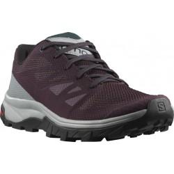 Zapatillas SALOMON OUTLINE para mujer-Trekking y senderismo-Burdeos