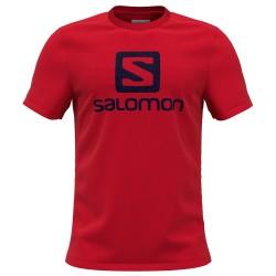 Camiseta SALOMON OUTLIFE LOGO SS-Rojo