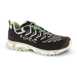 Zapatillas BOREAL ALLIGATOR para mujer-Trail running y senderismo-Negro/Gris