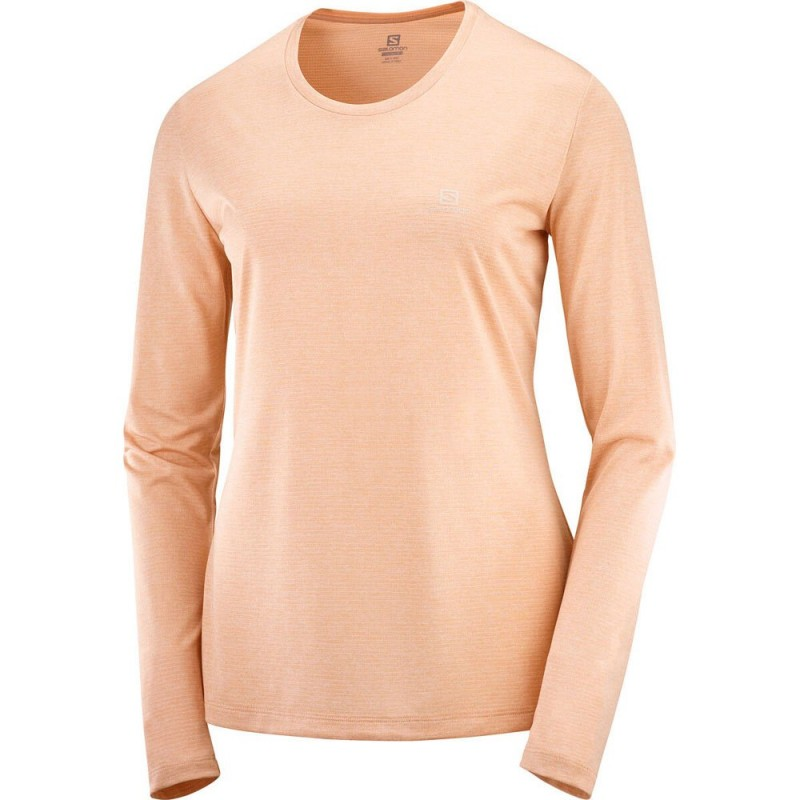 Camiseta SALOMON ML AGILE para mujer-Rosa